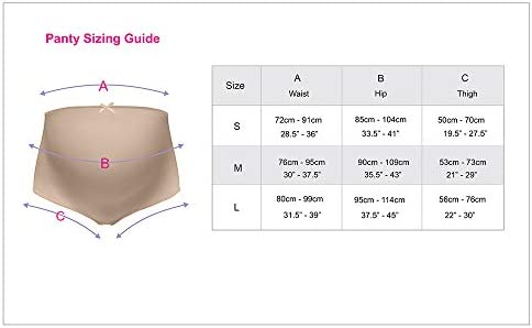 SilRiver Silk Antimicrobial Pregnancy Underwear,Maternity Knickers,Over Bump,Great Comfortable Breathable Quality,High Cut Good Fit