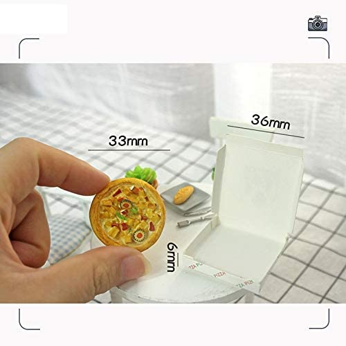 Yaootely 1//12 Puppenhaus Miniatur Zubeh?R Pizza mit Box f/ür Barbies K/üChenspielzeug