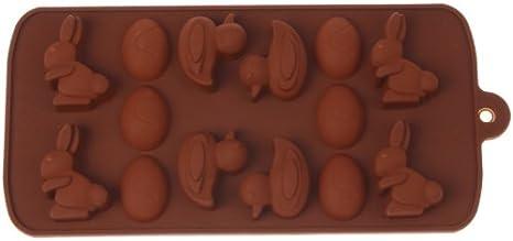 Pudding Gelee Blau TOPPU Schokoladenformen Osterhasenformen 3D-s/ü/ßes Kaninchenei-Alpaka-Herstellungswerkzeug Antihaft-Silikonform Dinosaurier-Eier DIY-Form f/ür Kuchen