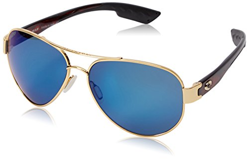 Costa del Mar South Point Sunglass, Gold/Blue Mirror ()