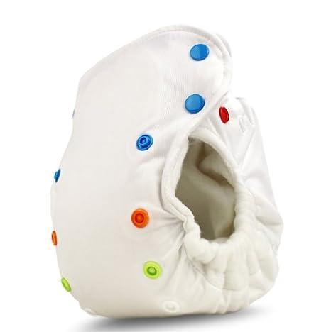 BabyKicks 794504457421 Premium - Pañal de tela (cierre de corchetes, 3-18 kg