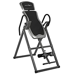 Innova Inversion Table with Adjustable Headrest, Lumbar Support, and Reversible Ankle Holders