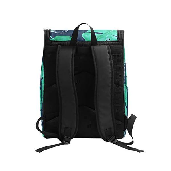 DXG1 Zaino Tropicale Verde Foglia Blu Navy Borsa Moda Borsa per Donne Uomini Ragazzo Ragazzo Bookbag Viaggio College… 2 spesavip