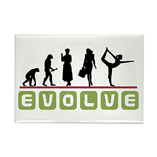 CafePress Evolve Rectangle Magnet Refrigerator