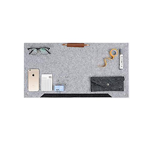 Richoose Felt Desk Mat Multifunctional Felt Computer Desk Pad Oversized Mouse Pad for Computer Laptop Keyboard (Best Place To Get Your Laptop Fixed)