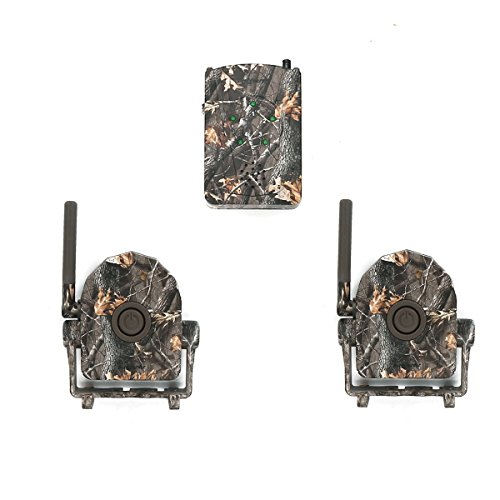 Bestguarder wireless or cordless hunting and security alarm system with sound / Vibration / LED light three alert for hunter to be informed of any animals approaching-SY-007 (Red Deer Blinds)