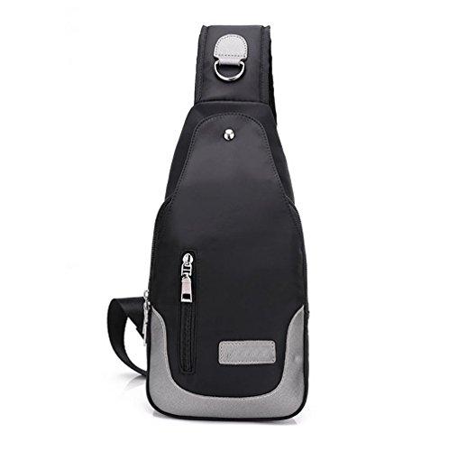 Hombro Linge Pecho Purple Bolso Nylon Ms Oxford Paño Black Pack Impermeable Hombres TT1x5qf