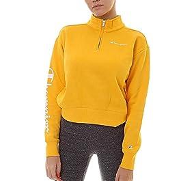 Champion Legacy American Classics Hoody Women Yellow S (Small)