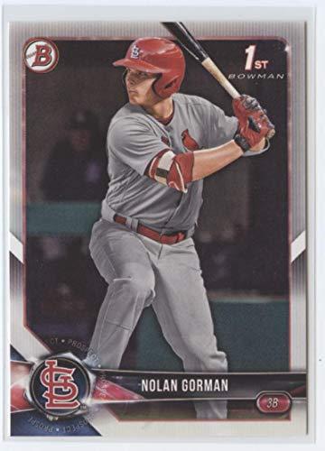 2018 Bowman Draft #BD-117 Nolan Gorman RC Rookie St. Louis Cardinals MLB Baseball Trading Card