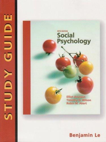 Social Psychology: Study Guide