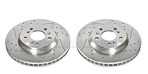 Power Stop AR82110XPR Front Evolution Drilled & Slotted Rotor Pair