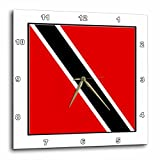 3dRose dpp_98515_3 Photo of Trinidad and Tobago Flag Button-Wall Clock, 15 by 15-Inch For Sale