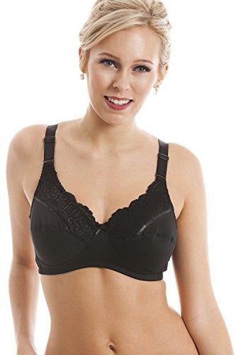 Camille - Sujetador para mastectomía sin aros - Sujeción total - Negro 90E