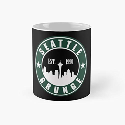 Seattle Grunge Mug, seattle Cup, 11 Ounce Ceramic Mug, Perfect Novelty Gift Mug, Funny Gift Mugs, Funny Coffee Mug 11oz, Tea Cups 11oz