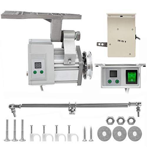 Mophorn 220V 400W Sewing Machine Servo Motor Max Speed 4500RPM Energy Saving Mute Tie Bar Brushless Servo Motor for Industrial Sewing Machine