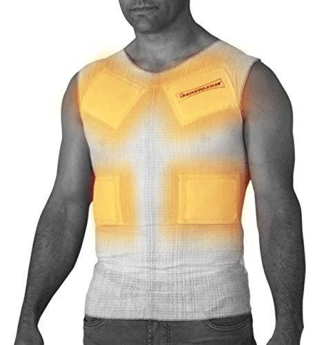 Clothing Battery Heated - UnderWarmer The Heated Undershirt,White,Medium