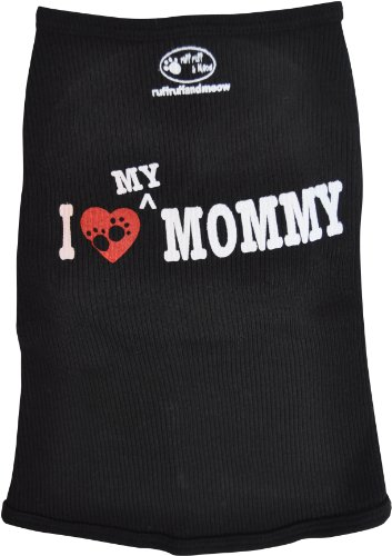 (Ruff Ruff and Meow Doggie Tank Top, I Love My Mommy, Black, Medium)