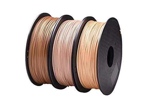 Tonglingusl wood filament 1.75mm for 3d printer wooden effect 3d printing material plastic 3d consumable material like silk (color : 1kg wooden, size : free)