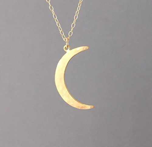 Fine Jewelry Sterling Silver Hammered Half Moon Necklace GQ0aTY3U0y