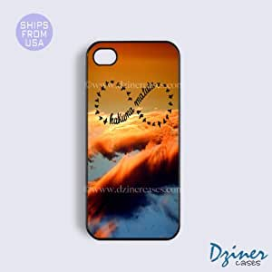 iPhone 4 4s Case - Sky Black Hakuna Matata iPhone Cover