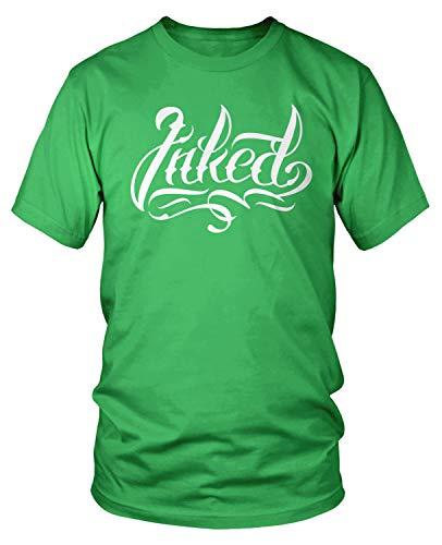 Amdesco Men's Inked Tattoos Tattooed T-Shirt, Kelly Green 3XL