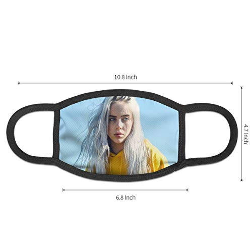 Dean Carnegie Bil_Lie Ei_Lish Face Mask Adjustable Mouth Mask Anti Dust Face Mouth Mask Reusable Mask for Cycling Camping Travel