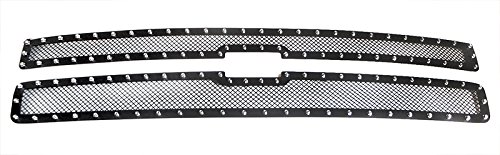 MaxMate 07-10 Chevy Silverado 2500/3500 Upper 2 PC Stainless Steel Black Powder Coated Mesh Grille Grill Insert