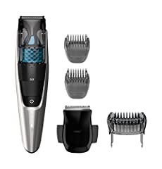 This Philips Norelco Beard trimmer Series 7200 is designed for a cleaner trimming experience. It gives you a perfect even trim with less mess, so you can feel confident everyday. The integrated vacuum system delivers powerful suction technolo...