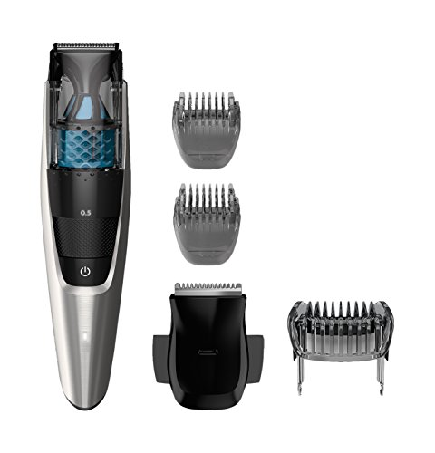 Philips Norelco Vacuum Beard Trimmer Series 7200, BT7215/49, Cordless Lithium-Ion Mustache and Beard Groomer for Men - NO BLADE OIL NEEDED (Best Vacuum Beard Trimmer)