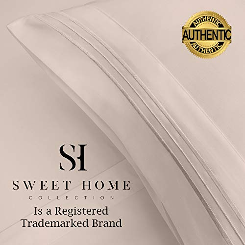 1500 Supreme Collection Extra Soft Twin XL Sheets Set, Beige - Luxury Bed Sheets Set with Deep Pocket Wrinkle Free Hypoallergenic Bedding, Over 40 Colors, Twin XL Size, Beige