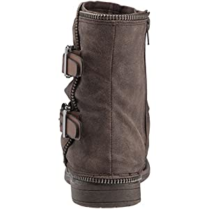 Not Rated Women's Who's Talkin Motorcycle Boot, Taupe, 7.5 M US