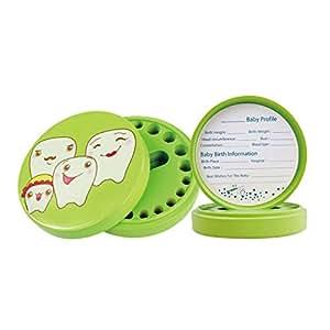 MagiDeal Caja de Almacenaje de Dientes de Leche de Bebé Lanugo Pelo Guardar - Verde (precio: 8,41€)