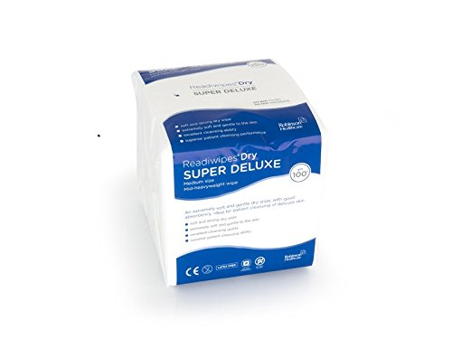 Readiwipes 5059 Dry Wipes, Super Deluxe, 281 mm x 240 mm (approx.) (Pack of 100) Robinson Healthcare