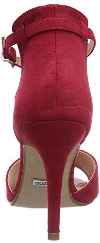 Buffalo 312339 SY SUEDE PATENT PU - Sandalias de vestir de material sintético para mujer rojo - Rot (RED217)