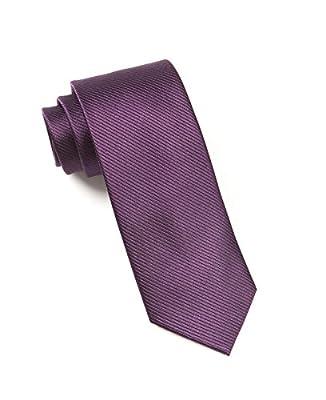 The Tie Bar 100% Woven Silk Eggplant Skinny Solid Skinny Tie