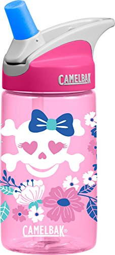 CamelBak Kids Eddy Water Bottle, Flowers & Skulls, 0.4 L