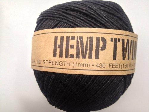 UPC 858431004056, Black Hemp Twine Cord 1mm 143yd 130m 430ft DIY
