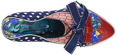 Licenza Poetica Scelta Irregolare Forza Damen Di Scarpe Brogue Blu (blu (blu / Rosso / Bianco))