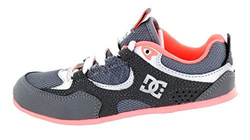 Dc Kalis Shoes - DC Shoes Boys Shoes Kalis Lite (US 2/UK 1/EU 33, Grey/Pink)