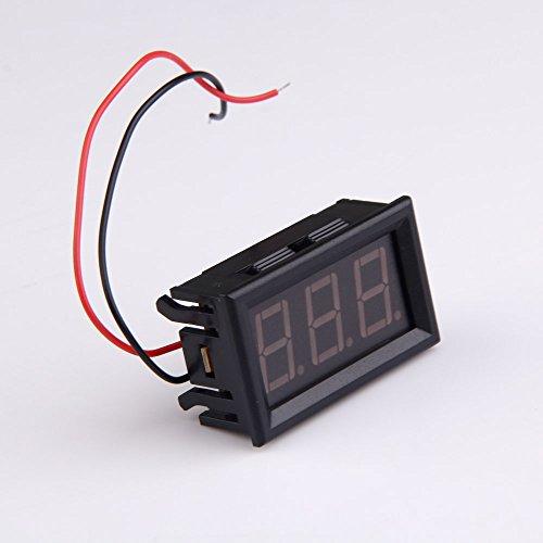 Vktech 4.5-30V Mini LED DC Digital Voltmeter Display Wattmeter for Auto Car Truck Blue Light