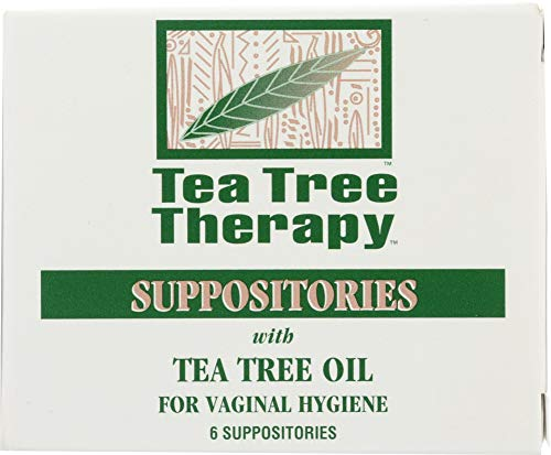 (NOT A CASE) Suppositories with Tea Tree Oil for Vaginal Hygiene, 6 Pc