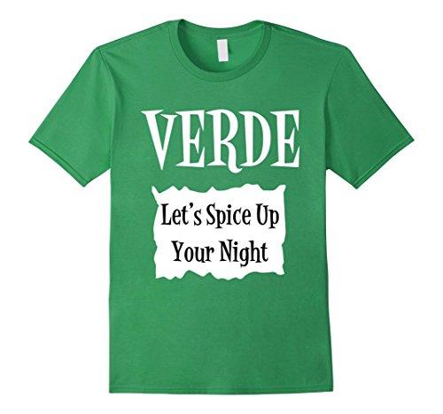 Mens Verde Green Sauce Packet Shirt - Halloween Costume T-Shirts Medium (Coworker Halloween Costumes)