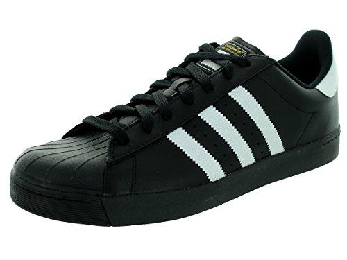 Scarpe Adidas Originali Mens Superstar Vulc Adv Nero / Bianco