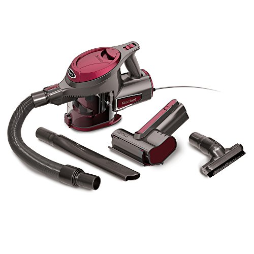 - Shark Rocket Corded Ultra-Light Hand Vacuum for Carpet with TruePet Mini Motorized Brush and 15-foot Power Cord (HV292), Maroon