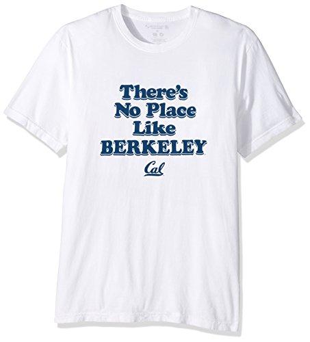 Alma Mater NCAA California Golden Bears Men's Organic Seaweed Ink Short sleeve Crew Neck T-Shirt, Medium, White