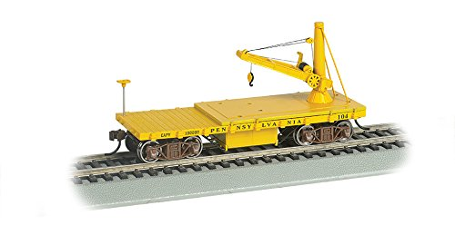 Bachmann Industries Old Time Maintenance of Way Derrick Pennsylvania Lines Freight - Freight American Car