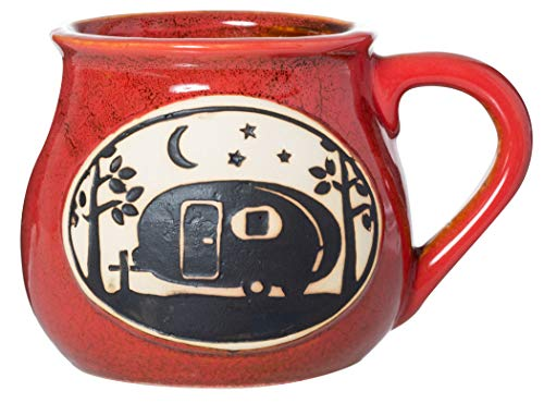 Cape Shore Handcrafted Bean Pot Stoneware 16oz Mug, Multiple Styles Available (Camper)