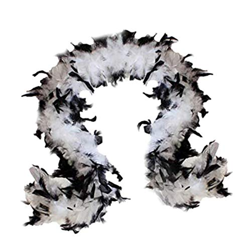 Cruella Deville Outfit (SACASUSA (TM) 100g Turkey Feather BOA Brand New in POLY BAGS ! Turkey Feather Chandelle Boa 6 feet long (11 colors to Pick) (White)