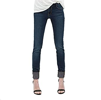 e6121d7f73 ZARA Basic Women's Low Rise Skinny Fit Denim Jean Blue (4): Amazon ...