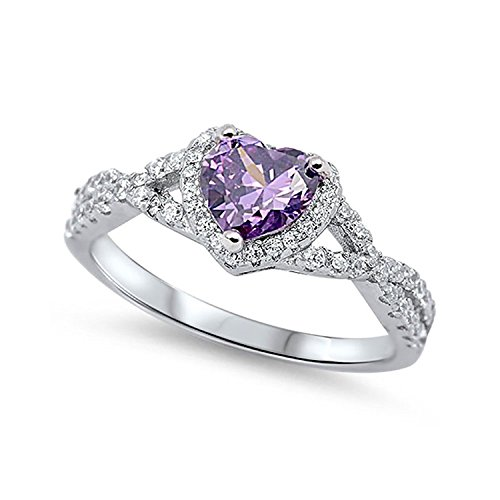 Round Amethyst Fashion Ring - 5